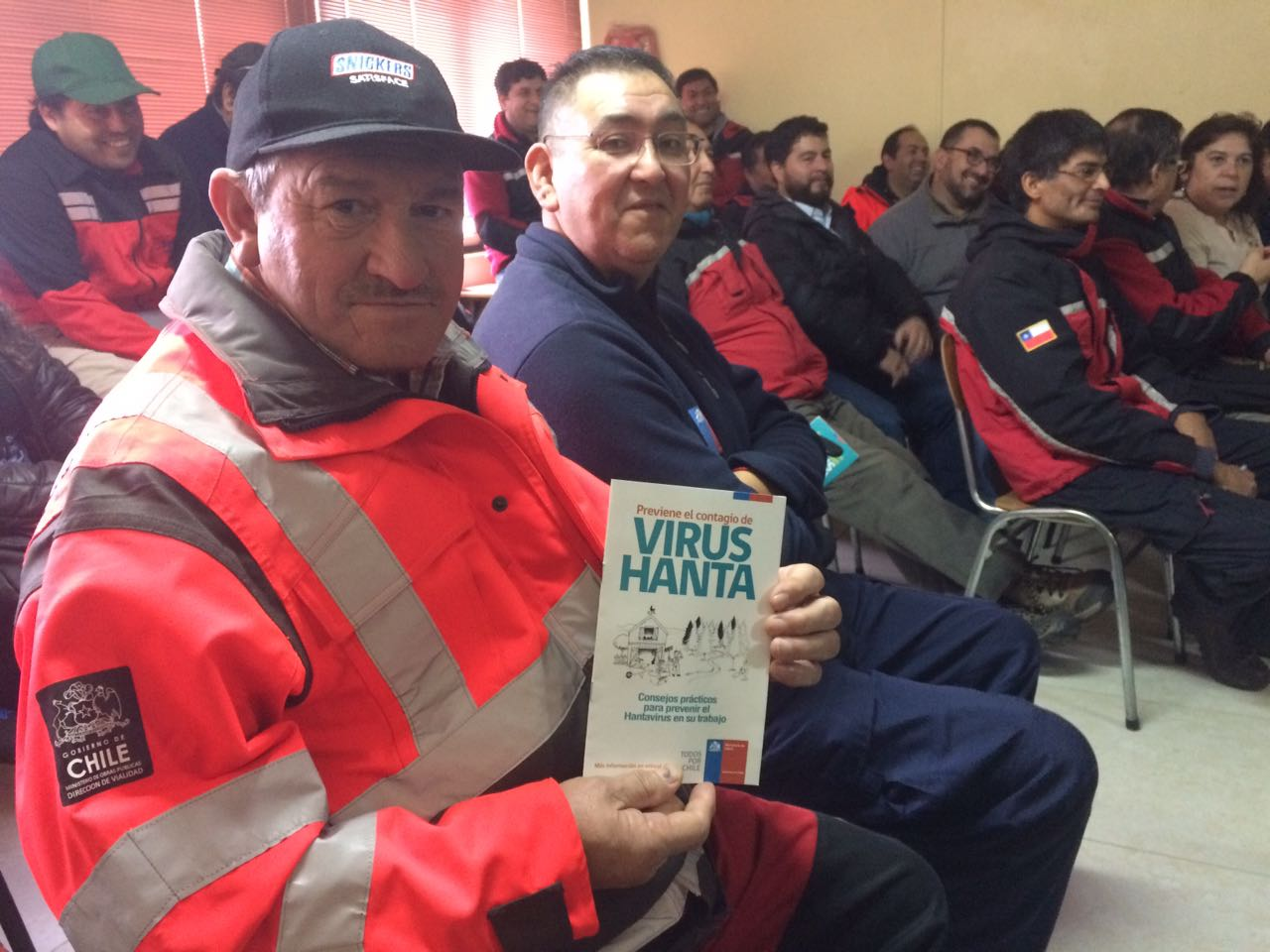 TRABAJADORES DE VIALIDAD RECIBIERON PREVENCION EN HANTA VIRUS