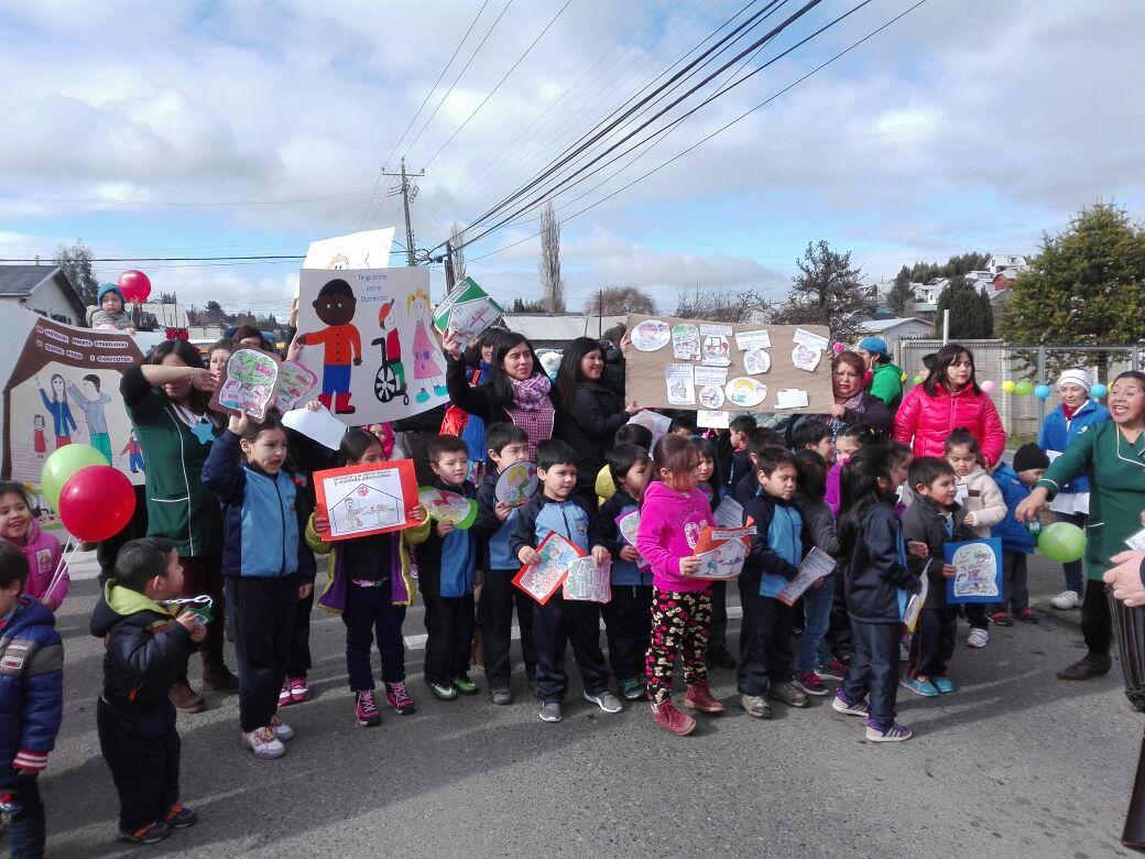 Los más pequeñitos de Calbuco, celebraron la semana de protección de derechos
