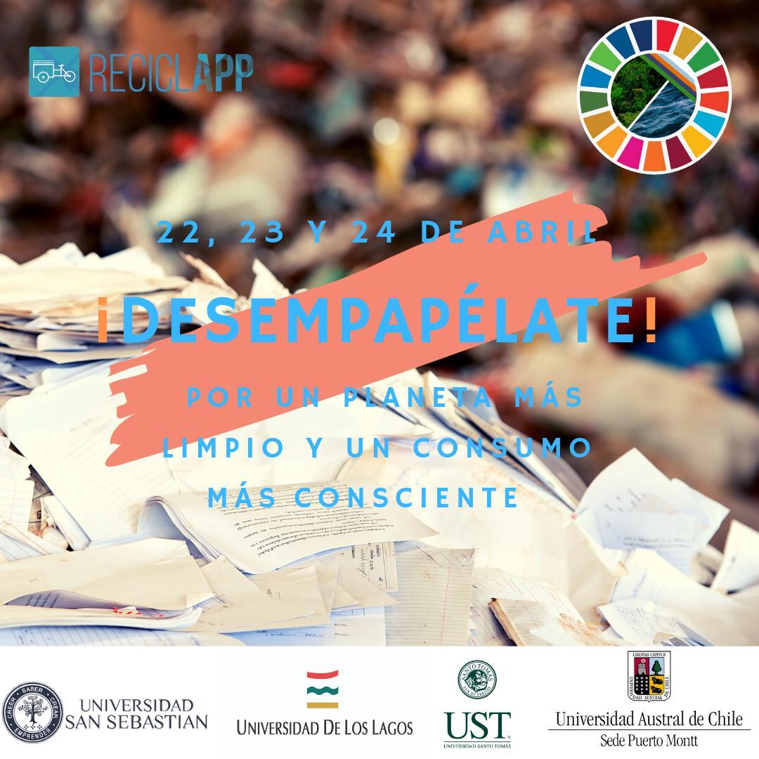 En la UACh, ULA, USS y UST estudiantes invitan a reciclar el papel