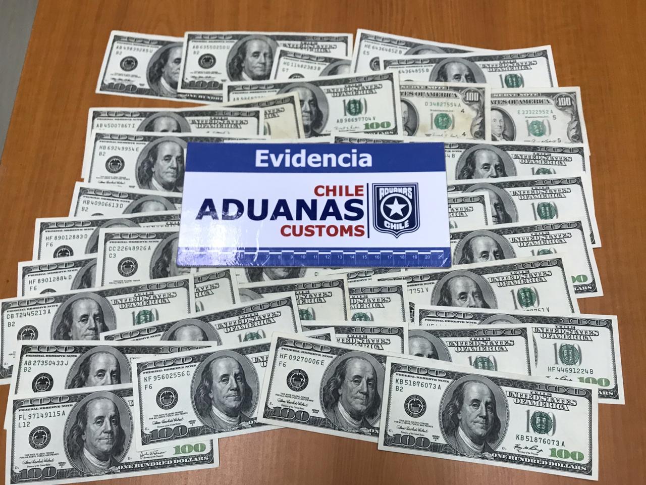 Aduanas sorprende a conductor portando más de 13 mil dólares ocultos  en Paso Icalma